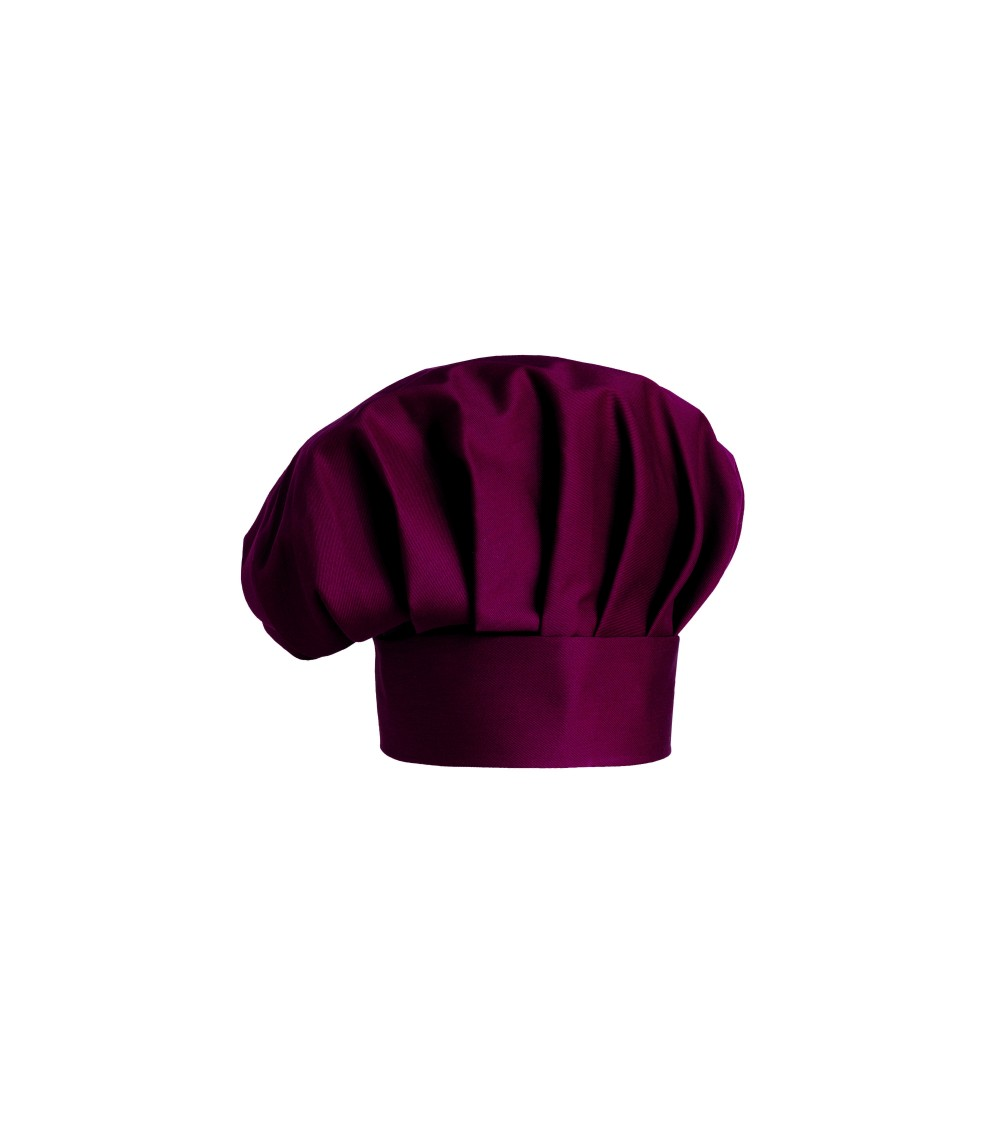 Gorro Chef Unicolor Bordeaux