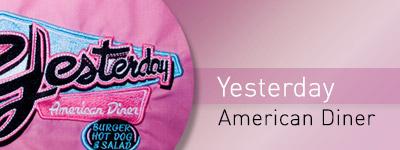 bordados de ropa de trabajo y ropa hostelería bordado yesterday american diner