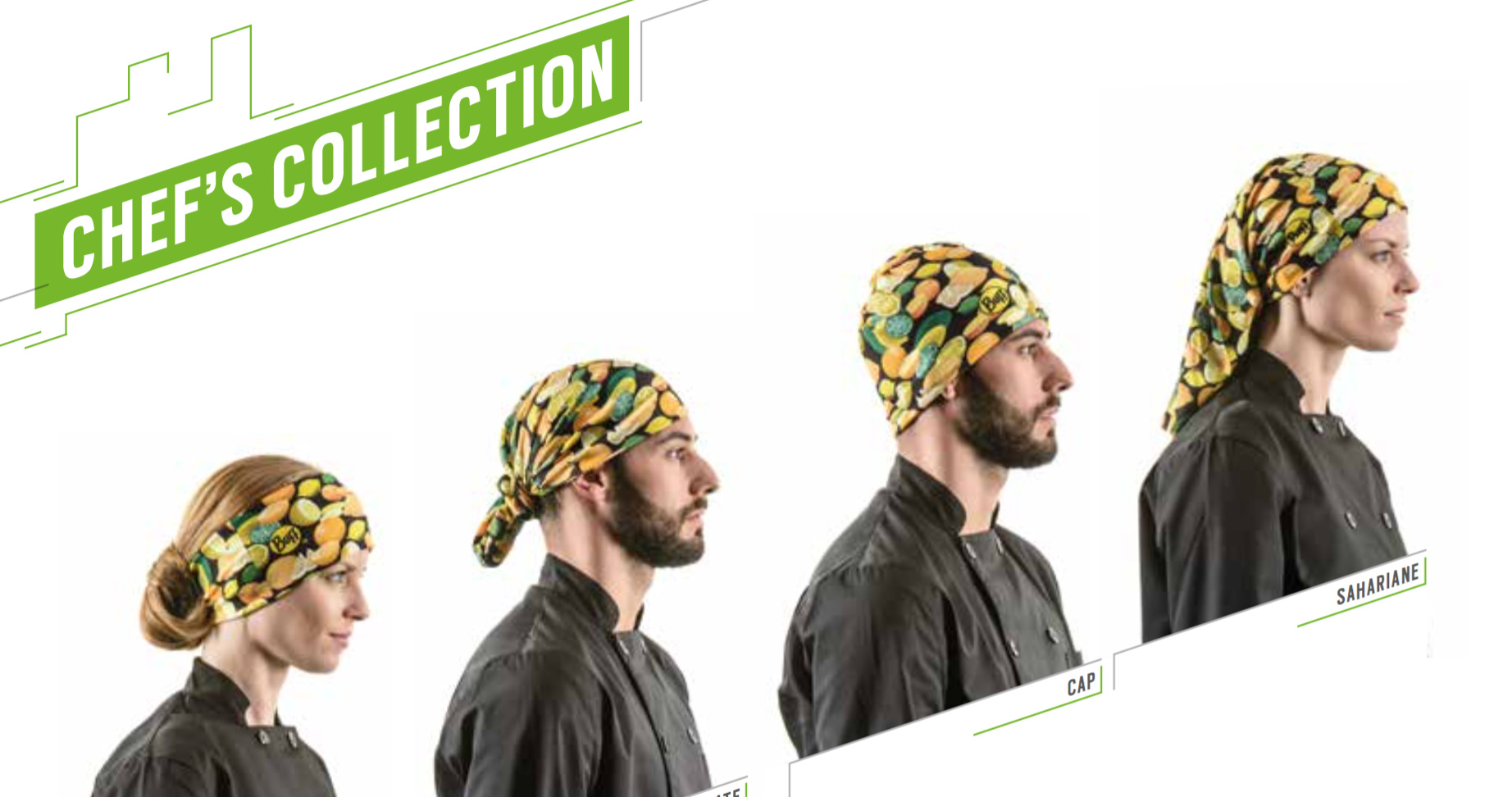 colocación gorro tubular buff collection