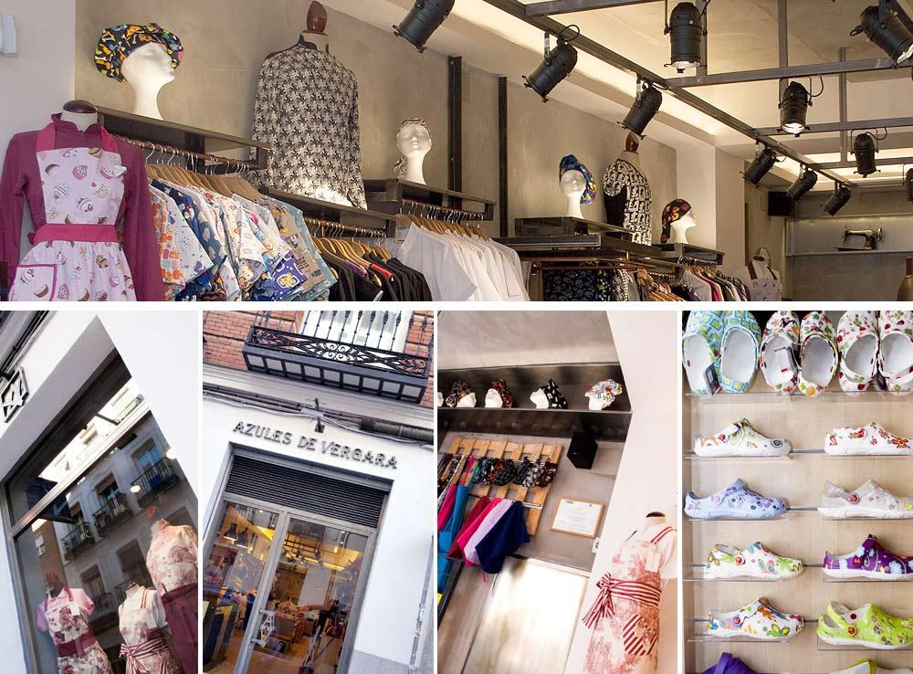 fachada tienda ropa de trabajo azules de vergara c/ jordán 4 de madrid