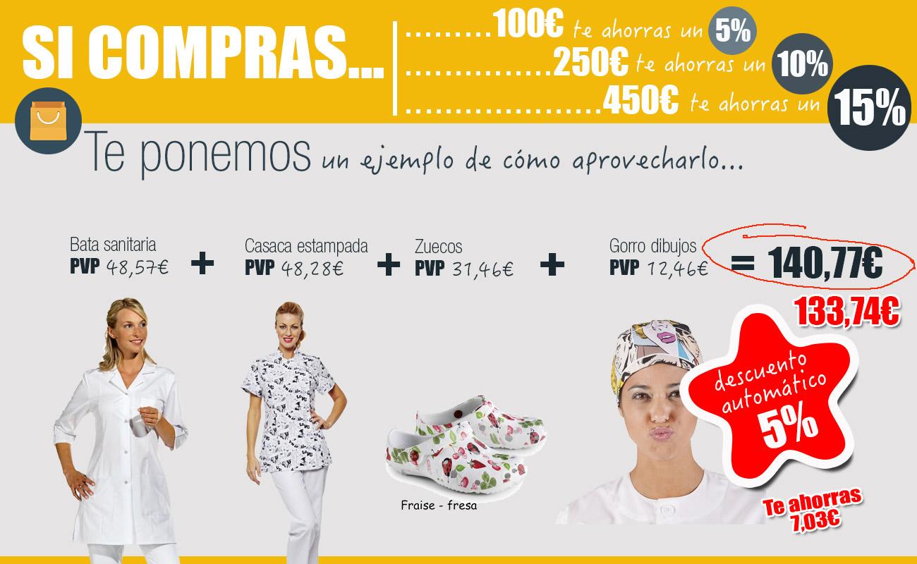 información dto por volumen de compras en ropa de trabajo